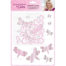 Cut and Emboss by Chloe Folder & Dies Dragonfly Swirls