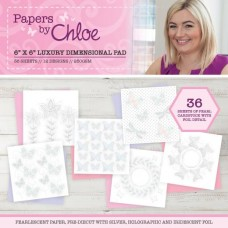 Papers by Chloe 6 x 6 Luxury Dimensional Paper Pad
