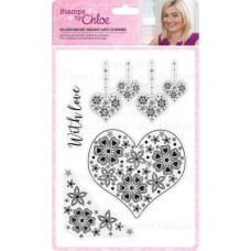 Stamps by Chloe Blossoming Heart and Corner Stamp Collection