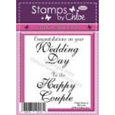 Stamps by Chloe - FEB030 Wedding Words