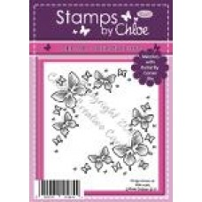 Stamps by Chloe - SEPT046 Butterfly Corners