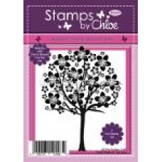 Stamps by Chloe - JAN063 Cherry Blossom Tree