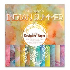 "Indian Summer Designer Paper Pack 8"" x 8"""