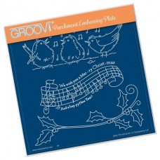 We Wish You a Merry Christmas A5 Square Groovi Plate