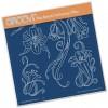 Jayne's Trumpet Lilies A5 Square Groovi Plate