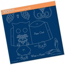 Linda's Papa Owl A4 Square Groovi Tem-plate