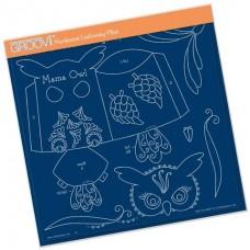 Linda's Mama Owl A4 Square Groovi Tem-plate