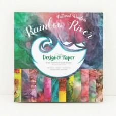 """Rainbow River Designer Paper Pack 8"""" x 8"""""""