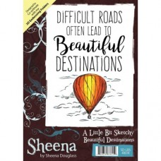 Sheena Douglass A Little Bit Sketchy A6 Stamp - Beautiful Destinations