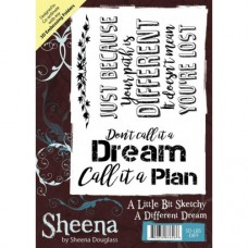 Sheena Douglass A Little Bit Sketchy A6 Stamp - A Different Dream