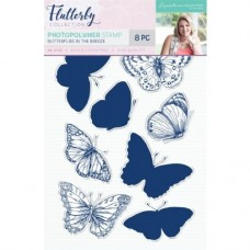 Sara Signature Collection - Flutterby - Photopolymer Stamp - Butterflies in the Breeze
