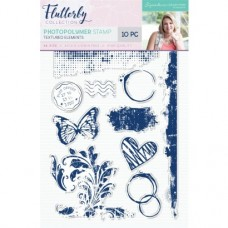 Sara Signature Collection - Flutterby - Photopolymer Stamp - Textured Elements
