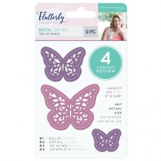Sara Signature Collection - Flutterby - Metal Die - Trio of Wings