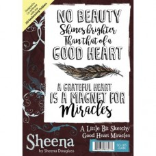 Sheena Douglass A Little Bit Sketchy A6 Stamp - Good Heart Miracles