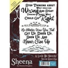 Sheena Douglass A Little Bit Sketchy A6 Stamp - Never Give Up