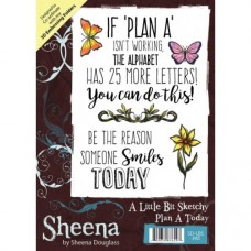 Sheena Douglass A Little Bit Sketchy A6 Stamp - Plan A Today