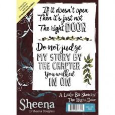 Sheena Douglass A Little Bit Sketchy A6 Stamp - The Right Door