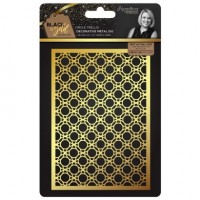Black & Gold - Metal Die - Circle Trellis