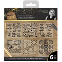 Black & Gold - Foil Transfers (6pk)