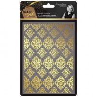 Black & Gold - Embossing Folder - Grande Damask