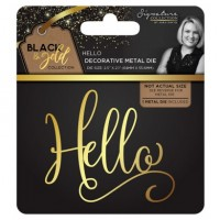 Black & Gold - Metal Die - Hello