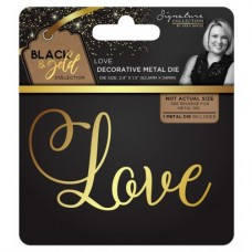 Black & Gold - Metal Die - Love