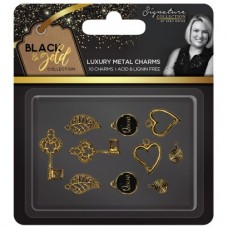 Black & Gold - Metal Charms