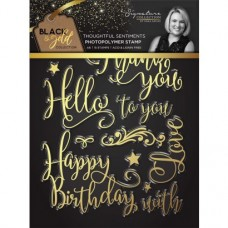 Black & Gold - Photopolymer Stamp - Thoughtful Sentiments