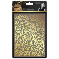Black & Gold - Embossing Folder - Regal Swirls