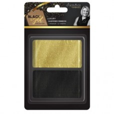 "Black & Gold - Shimmer Ribbon 2"" (2pk)"
