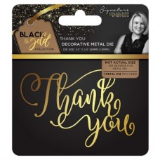 Black & Gold - Metal Die - Thank You