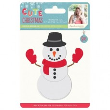 Sara Signature Cute Christmas - Metal Die - Build-a-Snowman