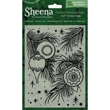 "Sheena Douglass 5""x7"" Xmas Folder - Baubles Baby"