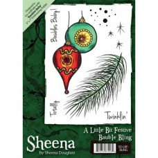 Sheena Douglass A6 Xmas Stamp - Bauble Bling