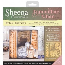 Sheena 'Remember When' Stencils - Brick Doorway