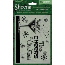 "Sheena Douglass 5""x7"" Xmas Folder - Three Cheers"