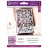 Die'sire Christmas 5x5 'Create-a-Card' Metal Die - Snow Crystal Die