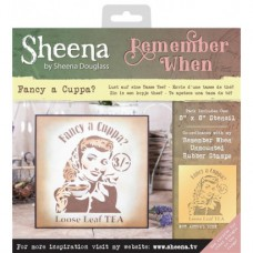 Sheena 'Remember When' Stencils - Fancy A Cuppa
