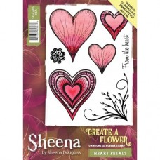 Sheena Douglass Create a Flower Stamp - Heart Petals