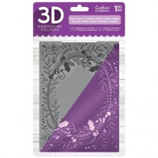 "Crafter's Companion 3D Embossing Folder 5""x7"" - Holly and Ivy Frame"