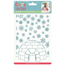 Sara Signature Cute Christmas - Embossing Folder - Fun in the Snow