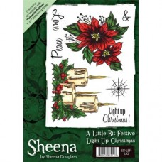 Sheena Douglass A6 Xmas Stamp - Light Up Christmas