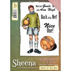 Sheena Douglass 'Remember When' A6 Stamp - Back of the Net