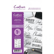 Crafter's Companion A6 Rubber Stamp - Noel