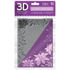 "Crafter's Companion 3D Embossing Folder 5""x7"" - Pretty Poinsettia"