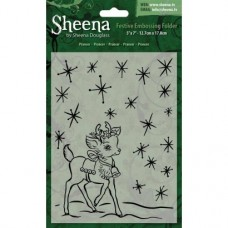 "Sheena Douglass 5""x7"" Xmas Folder - Prancer"