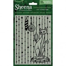 """Sheena Douglass 5""""x7"""" Xmas Folder - Purrfect Christmas"""