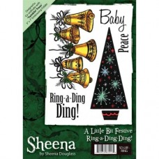 Sheena Douglass A6 Xmas Stamp - Ring-a-Ding-Ding!