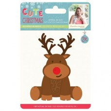 Sara Signature Cute Christmas - Metal Die - Red Nose Reindeer