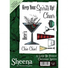 Sheena Douglass A6 Xmas Stamp - Christmas Spirits